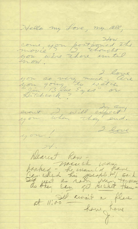 Image 1 for Howard Hughes - Autograph Letter Signed co-signed by: Jean Peters - HFSID 36751