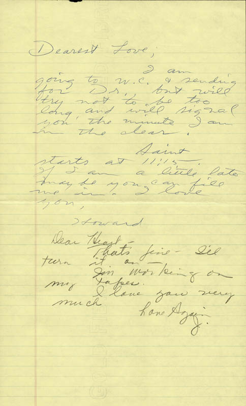Image 1 for Howard Hughes - Autograph Letter Signed co-signed by: Jean Peters - HFSID 36773