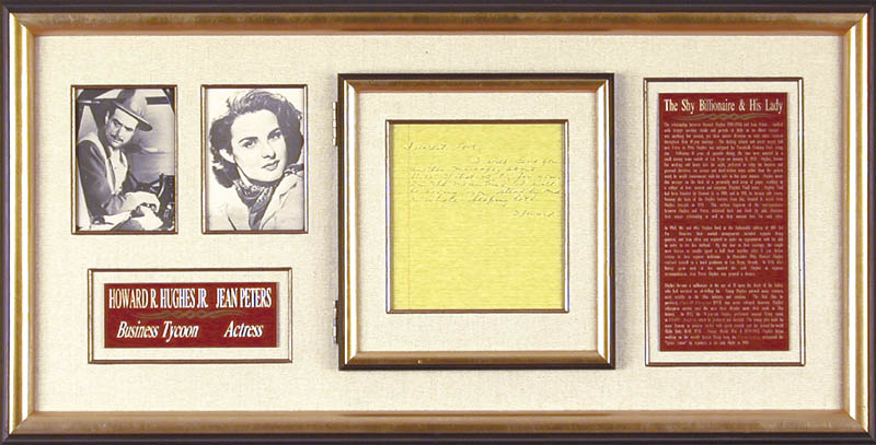 Image 1 for Howard Hughes - Autograph Letter Signed co-signed by: Jean Peters - HFSID 36776