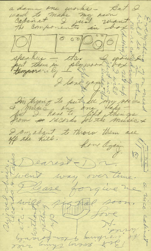 Image 3 for Howard Hughes - Autograph Letter Double Signed co-signed by: Jean Peters - HFSID 36785