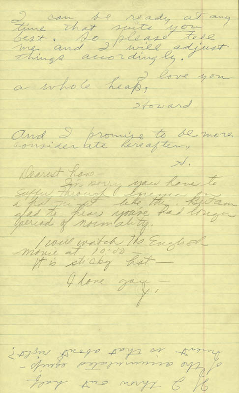 Image 3 for Howard Hughes - Autograph Letter Double Signed co-signed by: Jean Peters - HFSID 36791