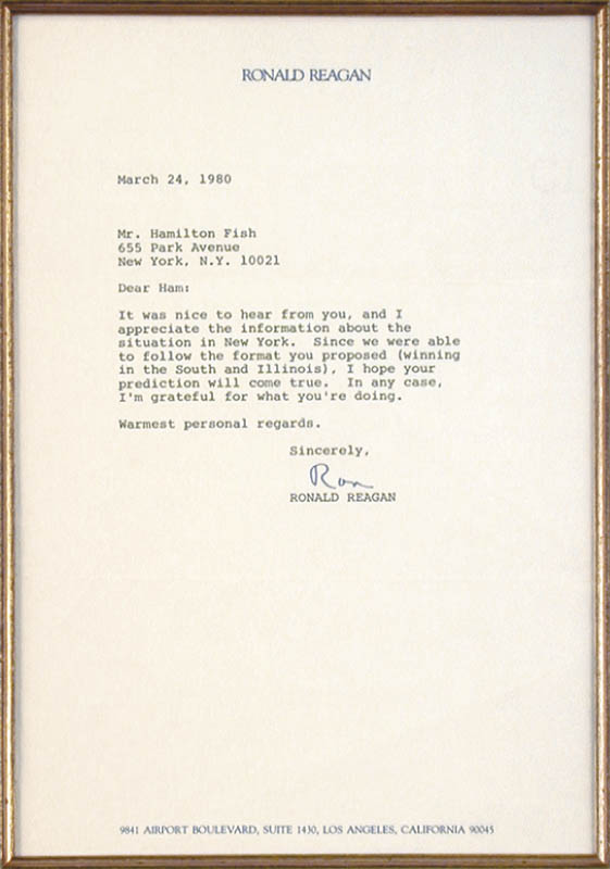 Image 3 for President Ronald Reagan - Typed Letter Signed 03/24/1980 - HFSID 36820