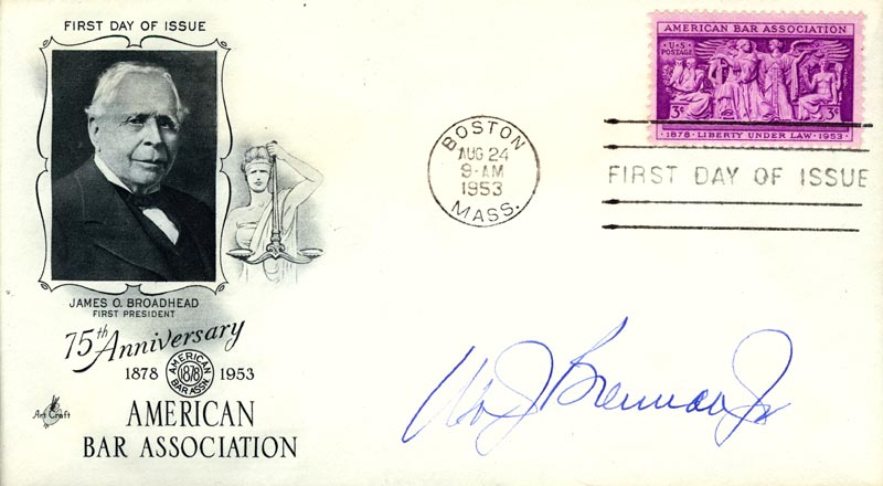 Image 1 for Associate Justice William J. Brennan Jr. - First Day Cover Signed - HFSID 36885