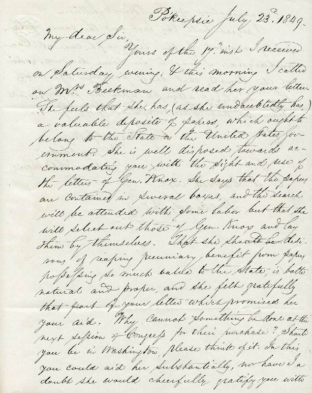 Image 1 for Samuel F. B. Morse - Autograph Letter Signed 07/23/1849 - HFSID 36927