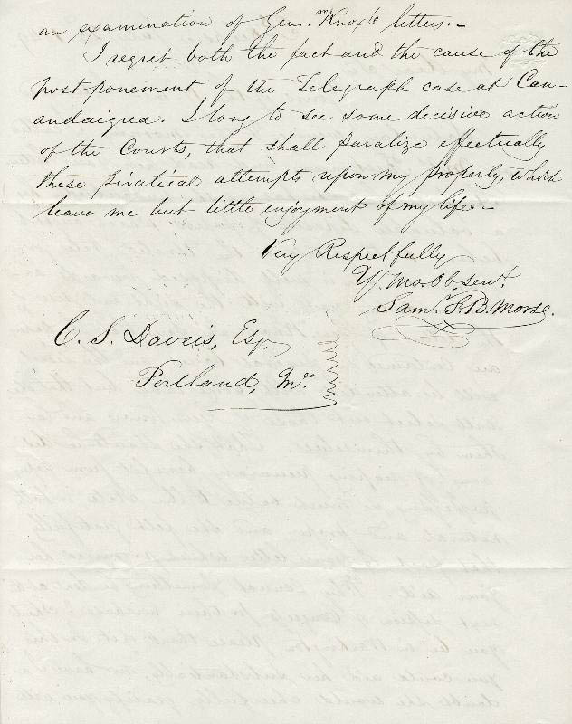 Image 3 for Samuel F. B. Morse - Autograph Letter Signed 07/23/1849 - HFSID 36927