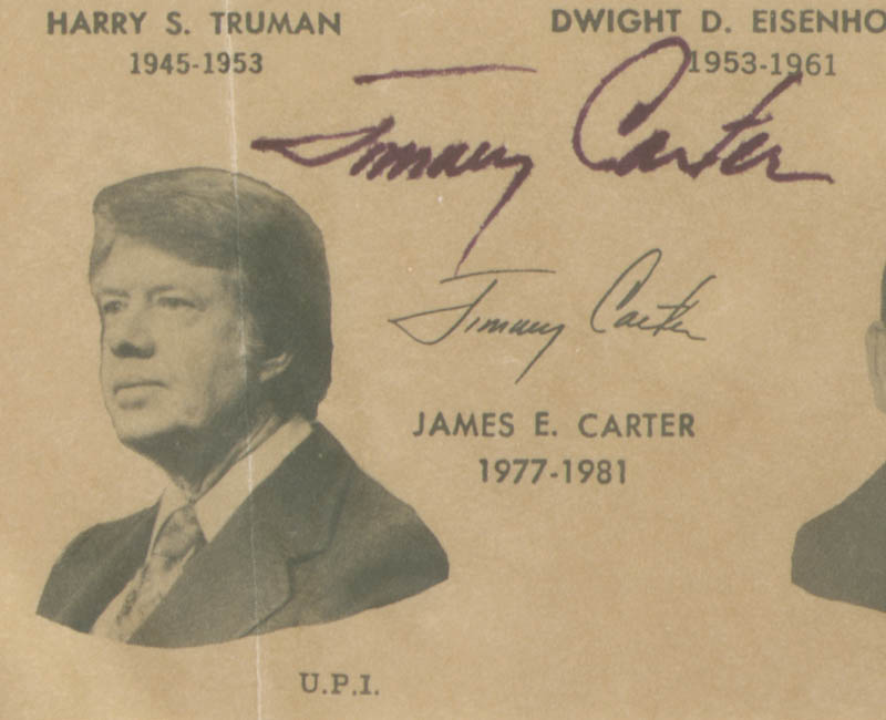 Image 3 for President James E. 'Jimmy' Carter - Illustration Signed - HFSID 36953