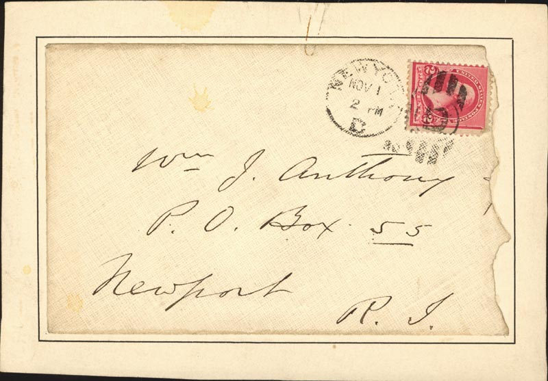 Image 1 for Edwin Booth - Autograph Envelope Unsigned 11/01/1890 - HFSID 3705