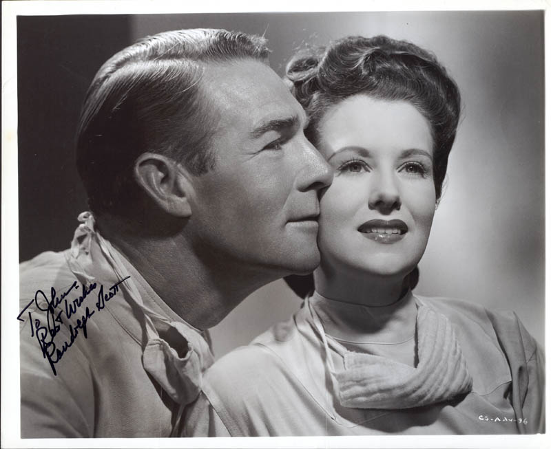 Image 1 for Randolph Scott - Autographed Inscribed Photograph - HFSID 37173