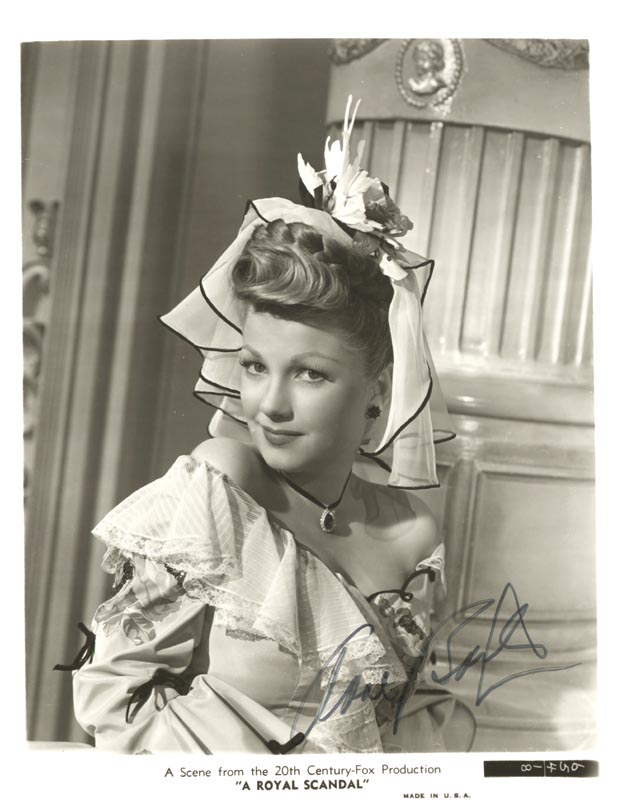 Image 1 for Anne Baxter - Autographed Signed Photograph - HFSID 37249