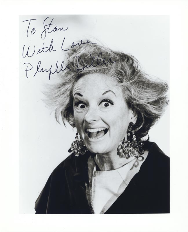 Image 1 for Phyllis Diller - Autographed Inscribed Photograph - HFSID 37349