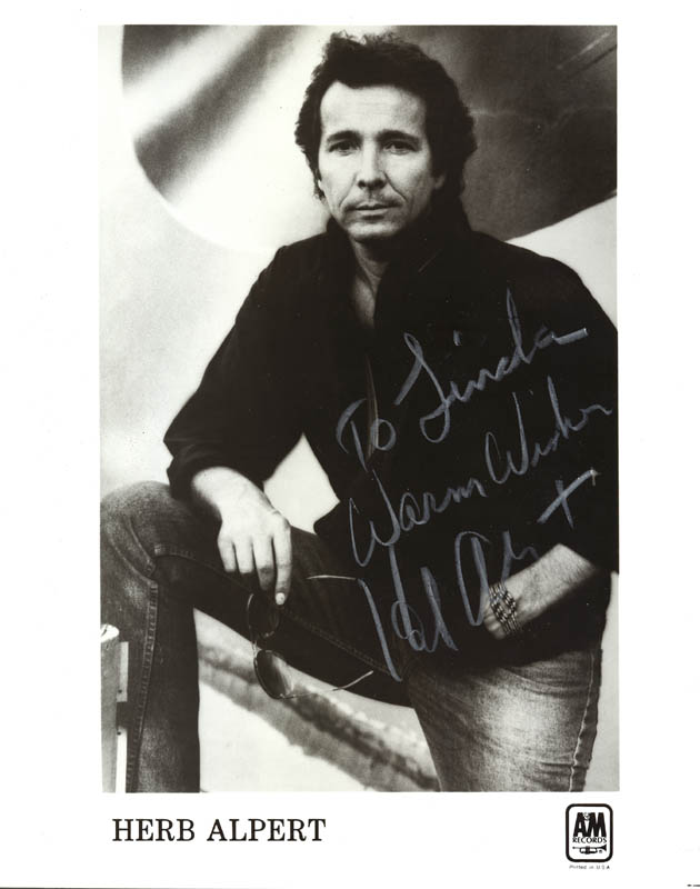 Image 1 for Herb Alpert - Inscribed Printed Photograph Signed In Ink - HFSID 37371