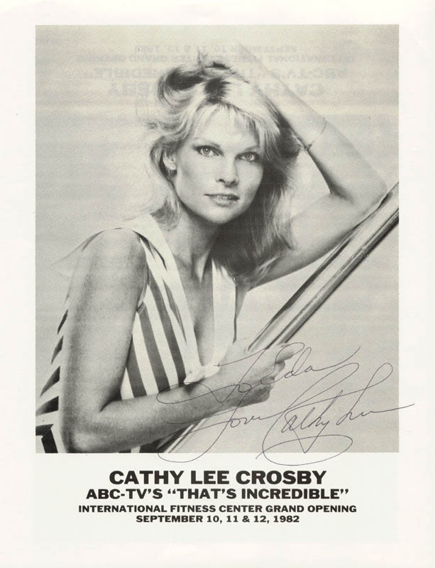 Image 1 for Cathy Lee Crosby - Inscribed Printed Photograph Signed In Ink - HFSID 37377