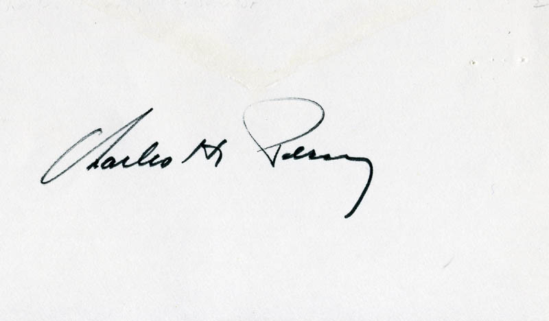 Image 1 for Charles H. Percy - Autograph - HFSID 37549