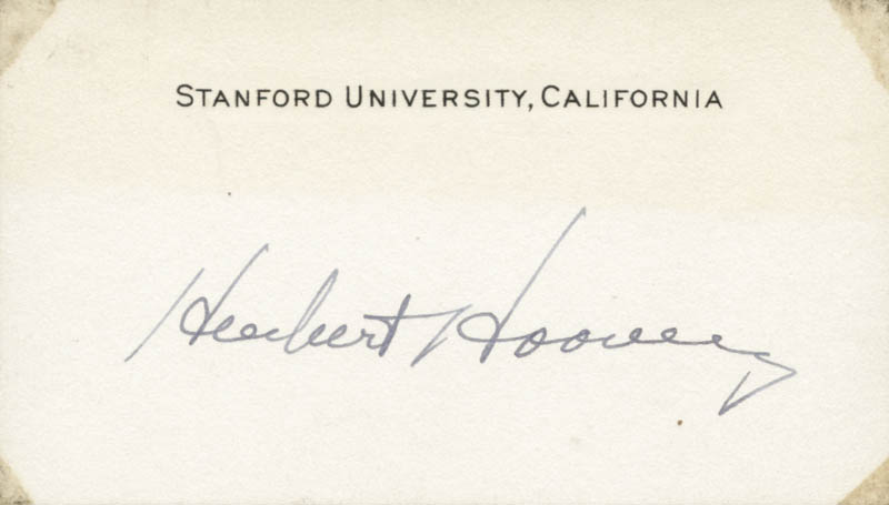 Image 1 for President Herbert Hoover - Autograph - HFSID 37565