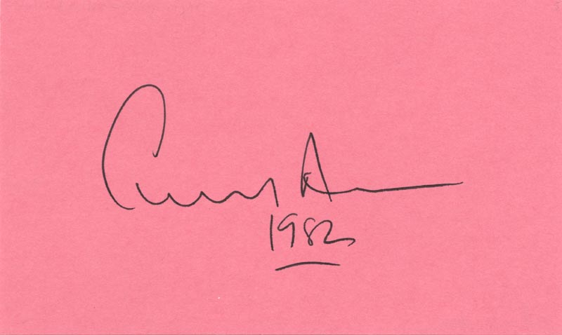 Image 1 for Edward Albee - Autograph 1982 - HFSID 37574