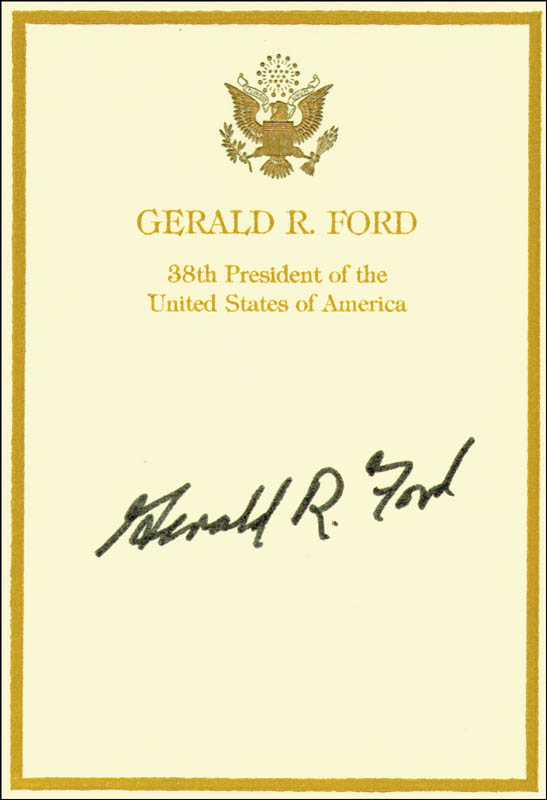 Image 1 for President Gerald R. Ford - Book Plate Signed - HFSID 37590