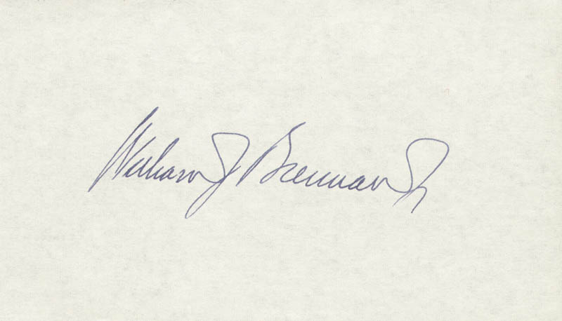 Image 1 for Associate Justice William J. Brennan Jr. - Autograph - HFSID 37763
