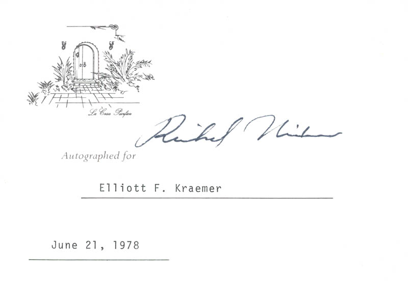 Image 1 for President Richard M. Nixon - Printed Card Signed In Ink 06/21/1978 - HFSID 37800