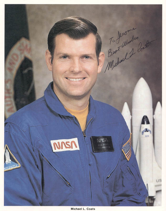 Image 1 for Captain Michael L. Coats - Autographed Inscribed Photograph - HFSID 37915