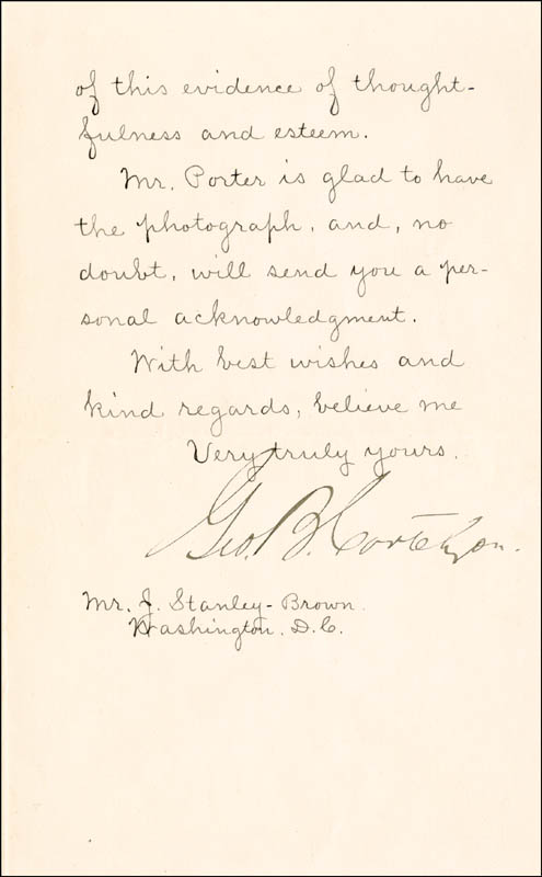 Image 1 for George B. Cortelyou - Manuscript Letter Signed 01/10/1899 - HFSID 3793