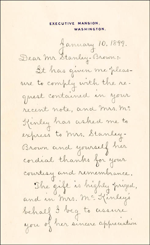 Image 3 for George B. Cortelyou - Manuscript Letter Signed 01/10/1899 - HFSID 3793
