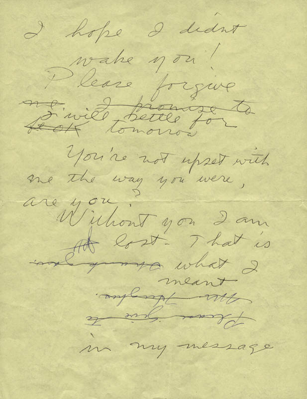 Image 3 for Howard Hughes - Autograph Letter Unsigned With Jean Peters - HFSID 38076