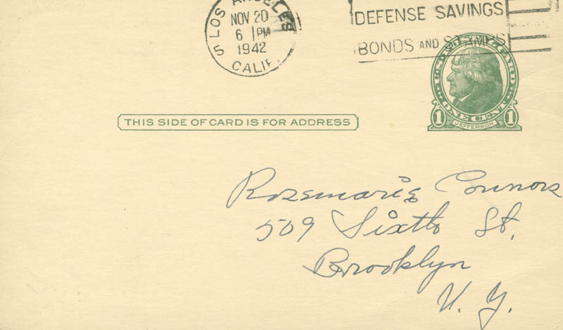 Image 3 for Nelle Wilson Reagan - Autograph Letter Signed Circa 1942 - HFSID 385
