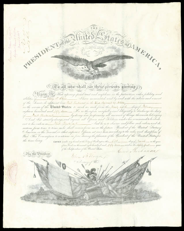 Image 3 for President James Buchanan - Military Appointment Signed 03/05/1857 co-signed by: General Samuel Cooper, John B. Floyd - HFSID 3910
