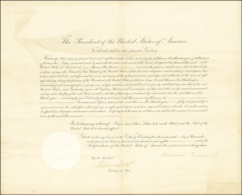 Image 3 for President Theodore Roosevelt - Document Signed 12/16/1908 co-signed by: Elihu Root - HFSID 39378