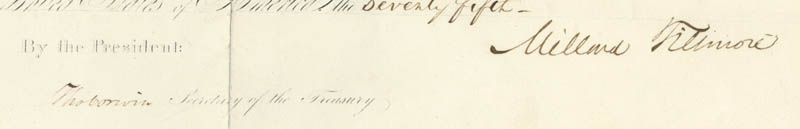Image 3 for President Millard Fillmore - Civil Appointment Signed 10/02/1850 co-signed by: Thomas Corwin - HFSID 3939