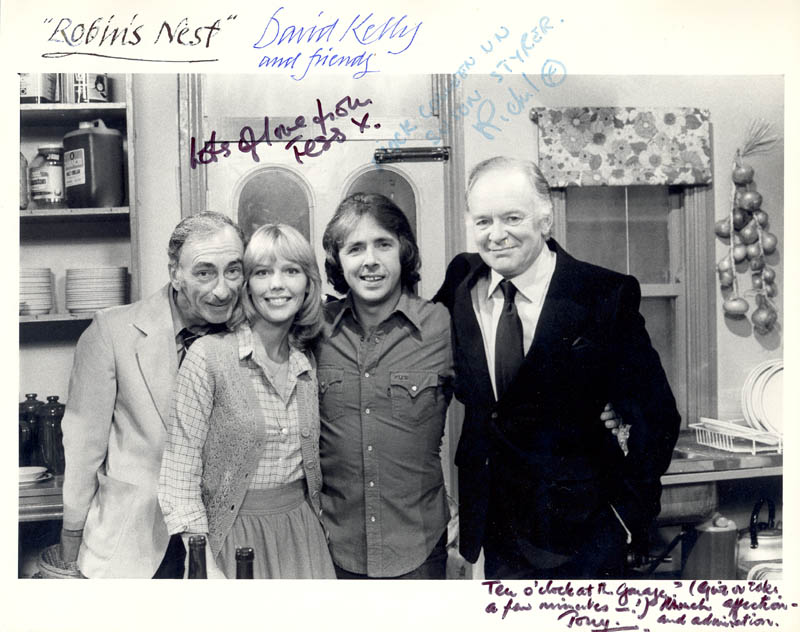 Image 1 for Robin'S Nest TV Cast - Autographed Signed Photograph co-signed by: David Kelly, Tony Britton, Tessa Wyatt, Richard O'Sullivan - HFSID 39475