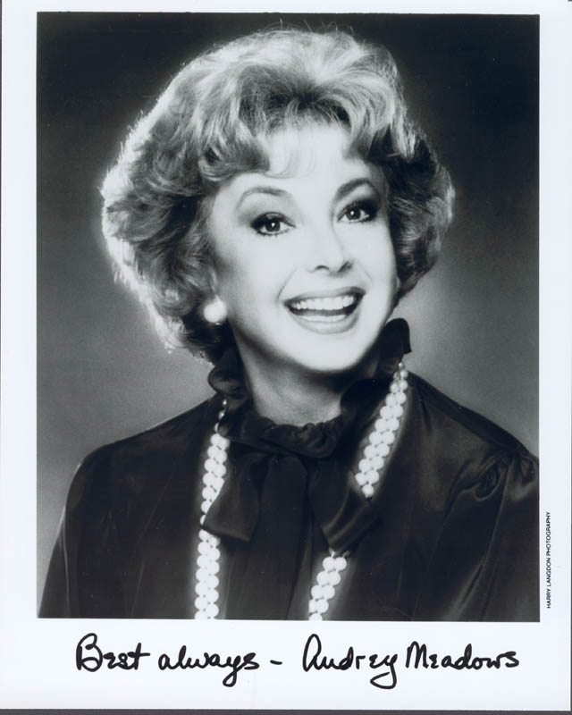 Image 1 for Audrey Meadows - Autographed Signed Photograph - HFSID 39852