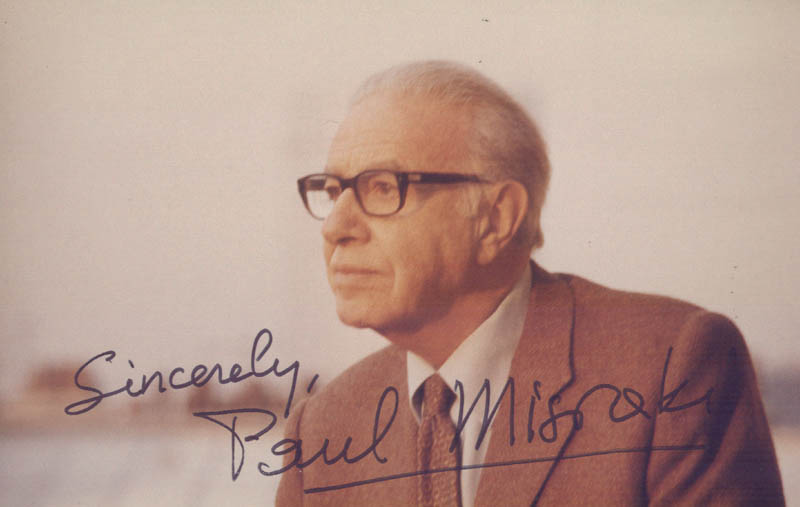 Image 1 for Paul Misraki - Autographed Signed Photograph - HFSID 39870
