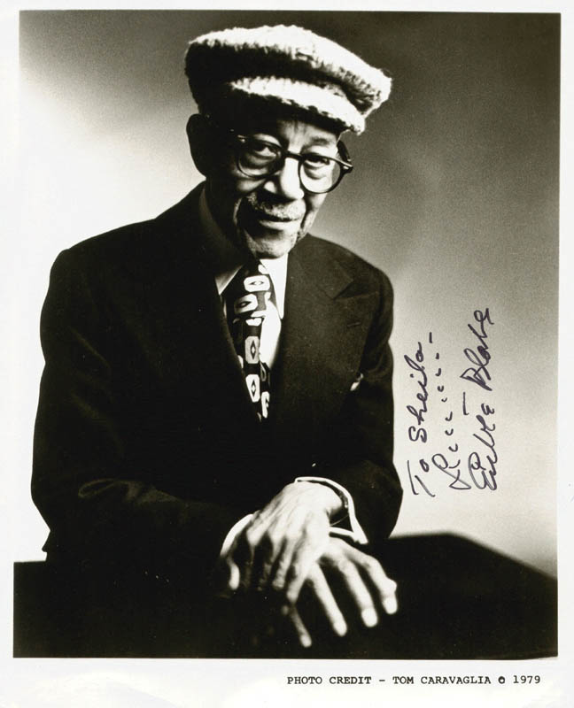 Image 1 for Eubie Blake - Autographed Inscribed Photograph - HFSID 3999