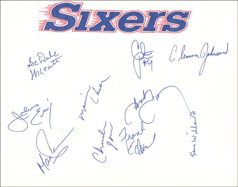 Image 1 for The Philadelphia 76ers - Autograph with co-signers - HFSID 40000