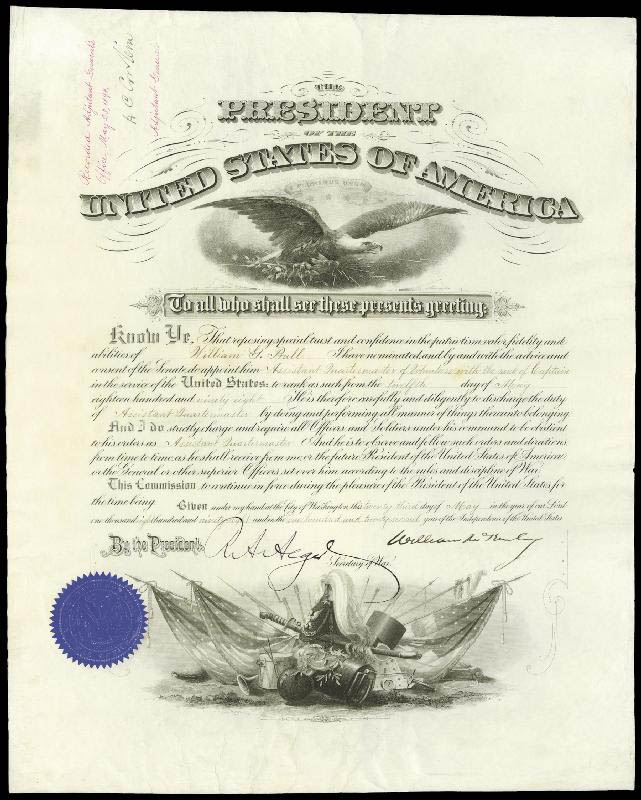 Image 1 for President William Mckinley - Military Appointment Signed 05/23/1898 co-signed by: Lt. General Henry C. Corbin, Russell A. Alger - HFSID 4042