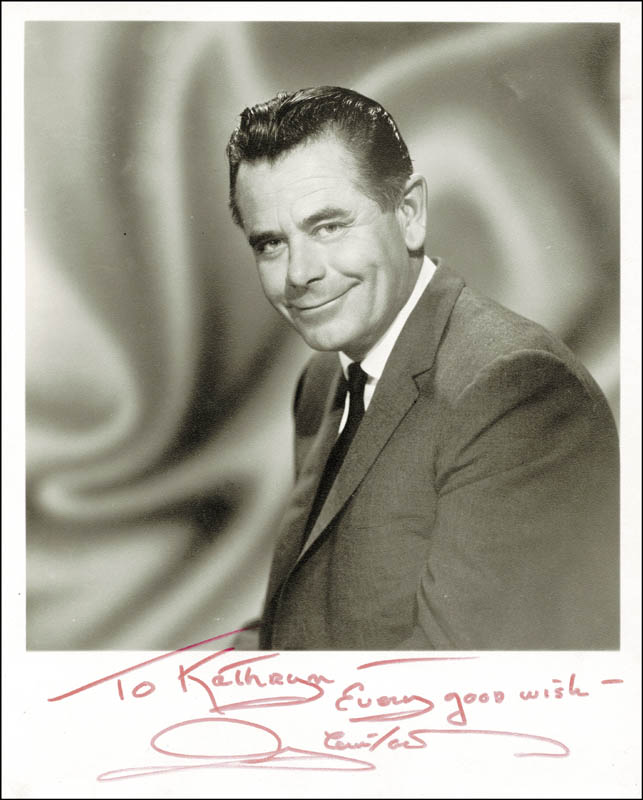 Image 1 for Glenn Ford - Autographed Inscribed Photograph - HFSID 40971