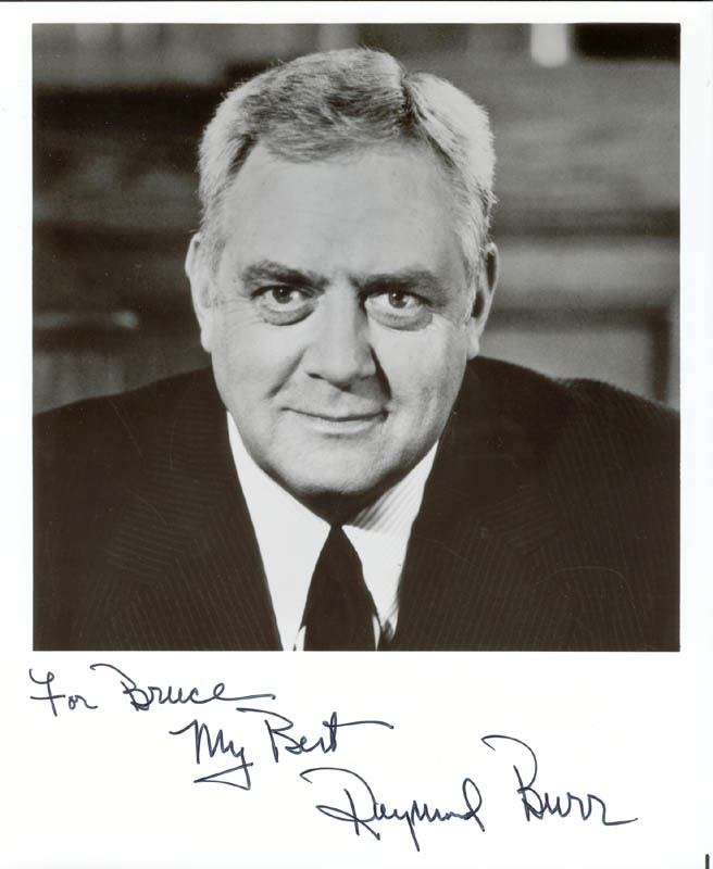 Image 1 for Raymond Burr - Autographed Inscribed Photograph - HFSID 40973