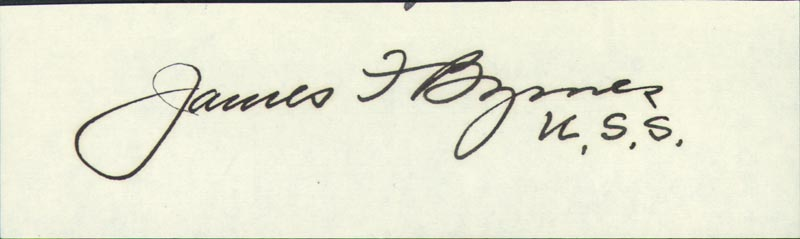 Image 1 for Associate Justice James F. Byrnes - Autograph - HFSID 41087