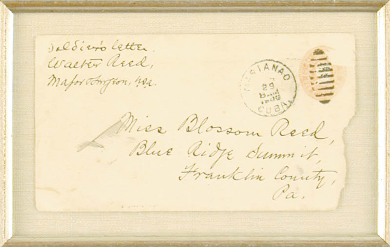 Image 4 for Walter Reed - Autograph Envelope Signed 06/29/1900 - HFSID 41107