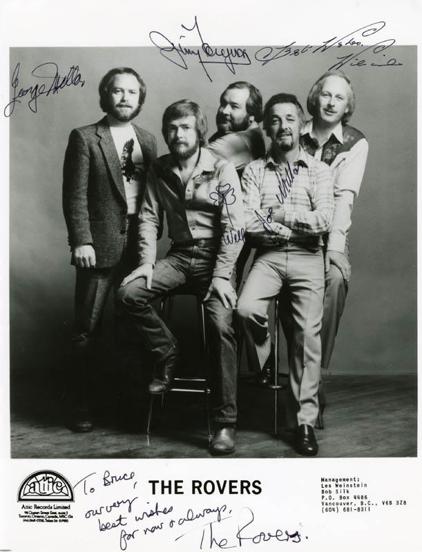 Image 1 for The Rovers (The Irish Rovers) - Autographed Inscribed Photograph with co-signers - HFSID 41137