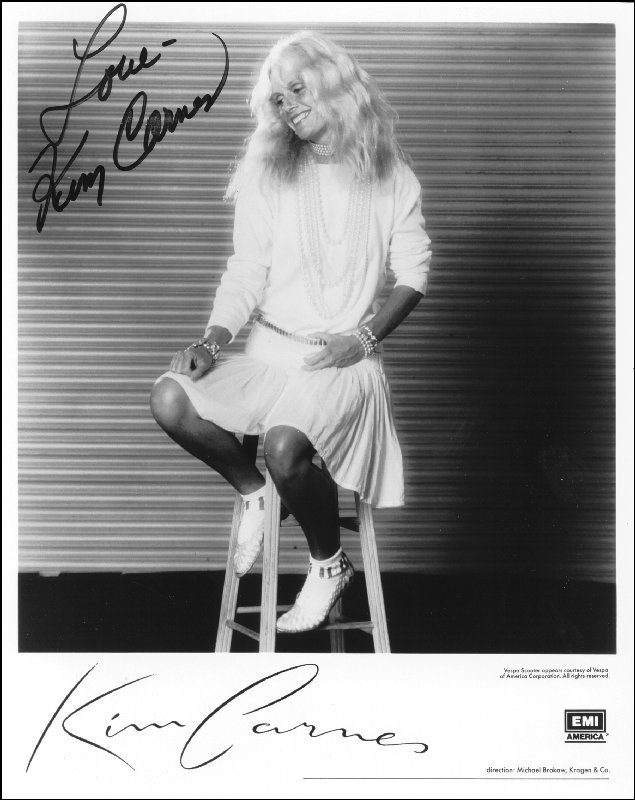 Image 1 for Kim Carnes - Autographed Signed Photograph - HFSID 41147