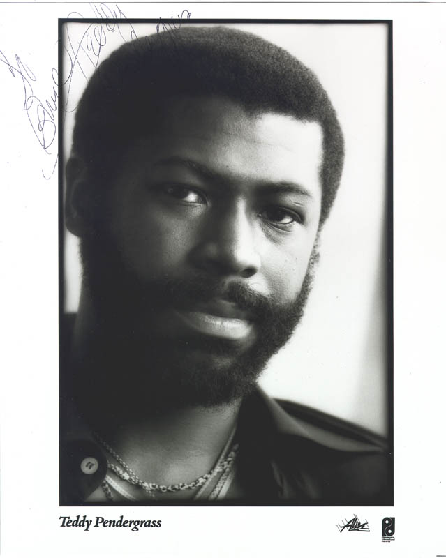 Teddy Pendergrass Inscribed Printed Photograph Signed In
