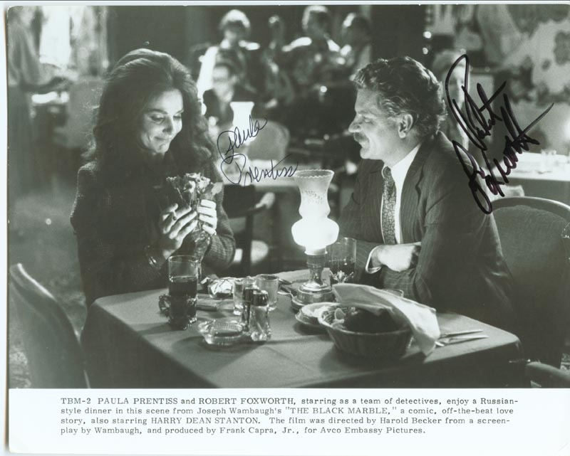 Image 1 for Black Marble Movie Cast - Printed Photograph Signed In Ink co-signed by: Robert Foxworth, Paula Prentiss - HFSID 41286
