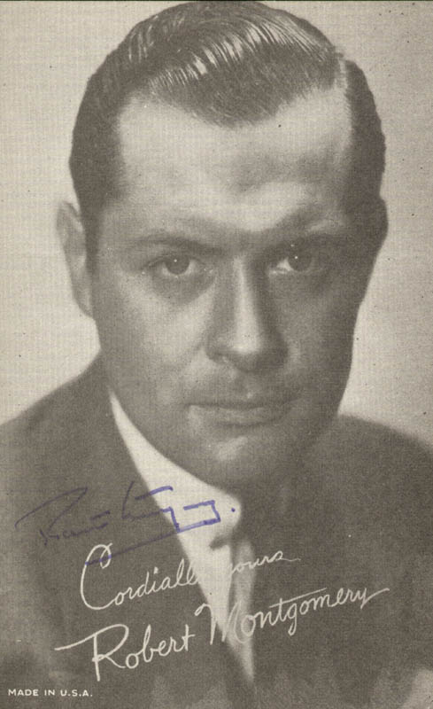 Image 1 for Robert Montgomery - Autographed Signed Photograph - HFSID 41310
