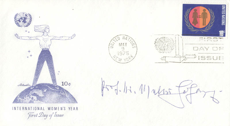 Image 1 for Dr. Walter M. Hohlweg - First Day Cover Signed - HFSID 41320