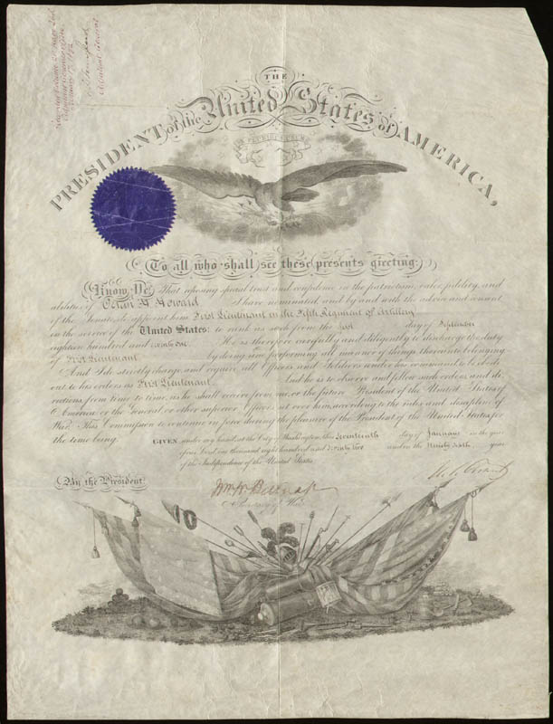 Image 1 for President Ulysses S. Grant - Military Appointment Signed 01/17/1872 with co-signers - HFSID 41434