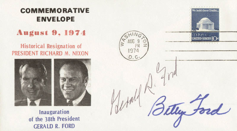 Image 1 for President Gerald R. Ford - Commemorative Envelope Signed co-signed by: First Lady Betty Ford - HFSID 41522