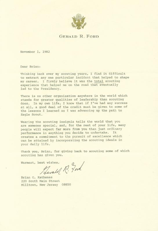 Image 1 for President Gerald R. Ford - Typed Letter Signed 11/01/1982 - HFSID 41847