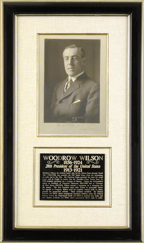 Image 1 for President Woodrow Wilson - Autographed Inscribed Photograph - HFSID 4189